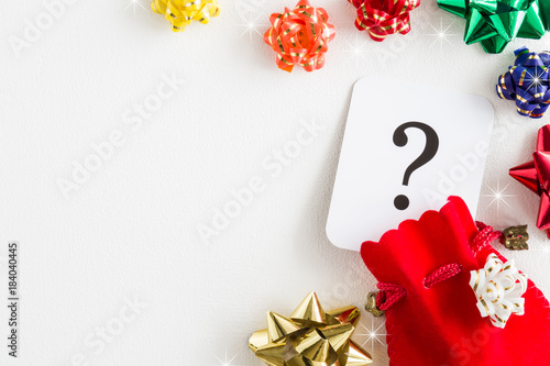 Red sack, question mark. Search and choose the best Christmas gifts ...