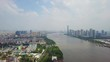 day time guangzhou city pearl river aerial panorama 4k china