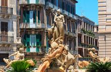 Diana Fountain, Syracuse, Sicily, Italy
