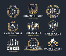 Chess Logo Set - Vector Illust...