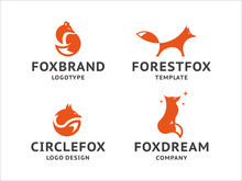 Collection Of Orange Fox Logos...
