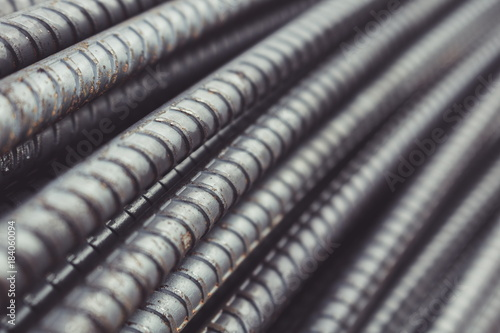 Carta da parati Reinforcing Steel Bar background, Rebar for concrete construction work