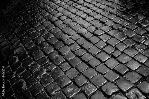 cobblestone pavement Canvas Print