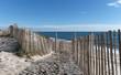 canvas print picture barrière anti érosion sur plage du Finistère