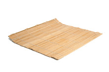 Bamboo Mat Isolated On The White