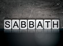 Sabbath Concept Tiled Word