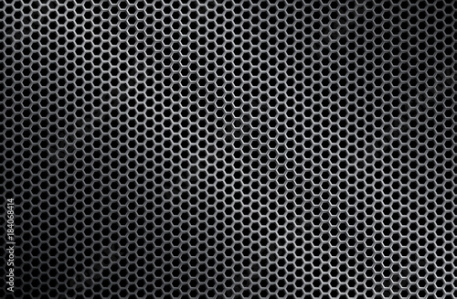 Valokuva  Perforated iron background texture. Vector illustration