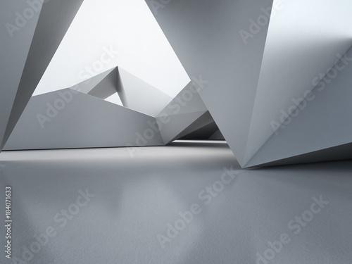 struktura-ksztaltow-geometrycznych-na-pustej-posadzce-betonowej-z-wielokatnym-tlem-sciany-w-hali-lub-nowoczesnym-showroomie-technologia-budowlana-dla-przyszlej-architektury-streszczenie-wnetrz-3d-ilustracja