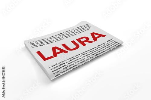 Photo  Laura on Newspaper background