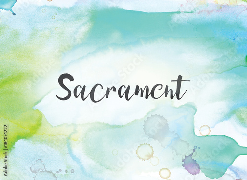 Sacrament Concept Watercolor and Ink Painting Canvas Print
