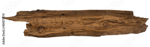 Garden Poster Wood Old planks isolated on white.