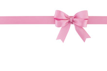 Pastel Pink Ribbon With Bow Is...