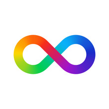 Infinity Sign Color Spectrum. ...