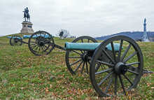 View Of The Gettysburg Battlefield, Site Of The Bloodiest Battle Of The Civil War.