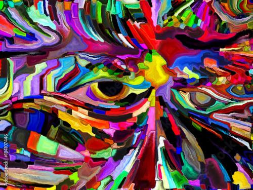 Deurstickers Paradijsvogel Computing Color Division
