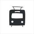 Tram icon. Vector Illustration