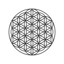 Sign Of A Flower Of Life, A Pattern Of Circles