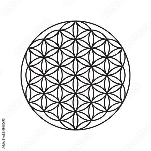 Znak kwiatu życia, wzór kół