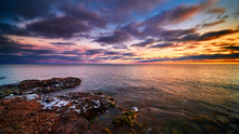 Sunset Lake Superior Split Roc...