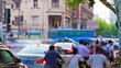 day time shanghai city traffic street panorama 4k timelapse china