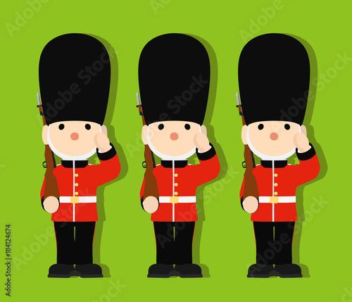 Fotografia イギリスの近衛兵 おもちゃの兵隊 ベクター 02
