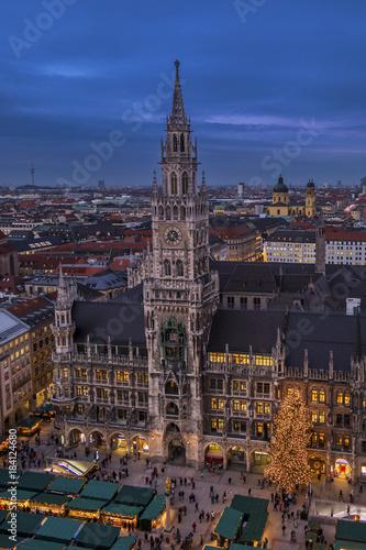 Fototapety, obrazy: Christmastime in Munich, Bavaria