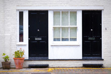 London Townhouses Painting