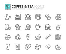 Outline Icons About Coffee And Tea