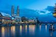 Zürich Stadtansicht am Abend