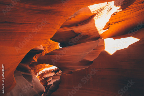 Poster Bordeaux Antelope Canyon in the Navajo Reservation near Page, Arizona USA