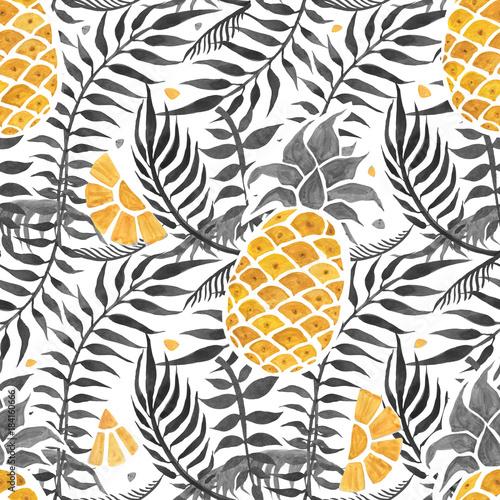 ananasowy-tlo-akwarela-bezszwowy-wzor