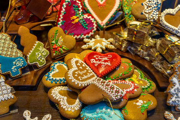 Traditional, culourful, gingerbreads handmade in Torun , Poland