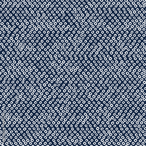 Japanese Shibori ornament. Asian seamless pattern. Weaving motif. Dark background. Classic japanese dyeing technique. Plain backdrop for decoration, wallpaper or web page background. Wall mural