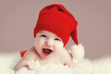 Beautiful Funny Baby In A Chri...