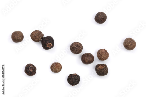 Papel de parede Allspices or Jamaica pepper isolated on white background