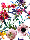 seamless exotic floral fashion pattern - 184189052