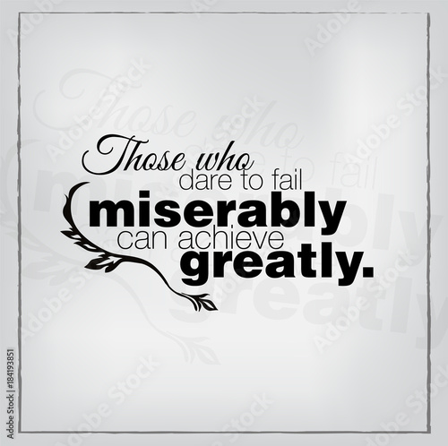 Obraz na plátně  Motivational quote poster