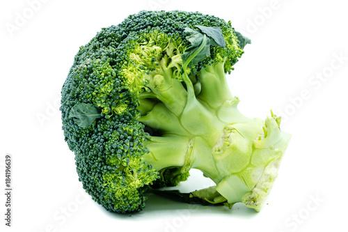 Brokoli Brokkoli isoliert freigestellt auf weißen Hintergrund, Freisteller