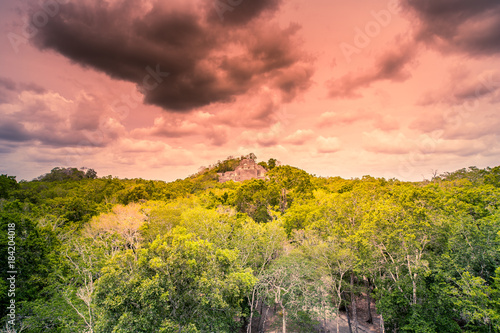Foto op Aluminium Rudnes Visit of the ancient maya city of Calakmul - South Yucatan - Mexico
