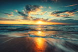Fototapeta Sunset - Beautiful sunrise over the sea