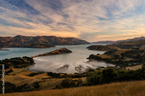 Banks Peninsula Christchurch New Zealand Fototapeta