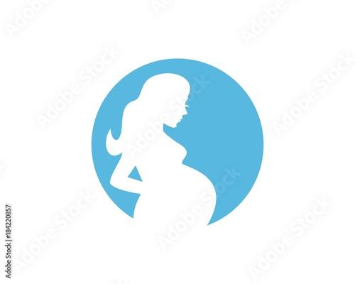 Fotomural Pregnancy silhouette