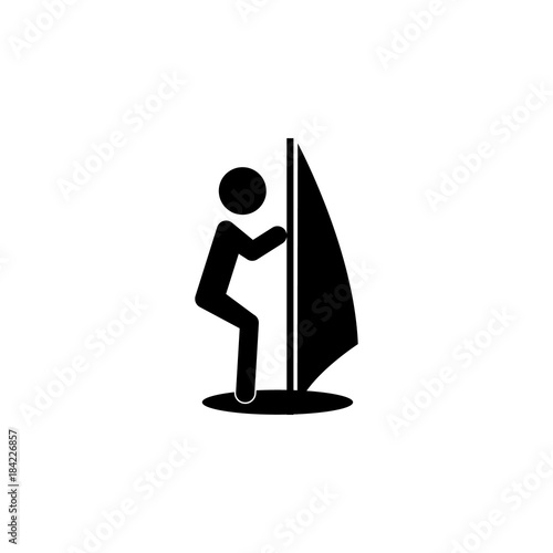Wind Sail Surf icon  Silhouette of an athlete icon