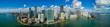 canvas print picture - Aerial panorama Brickell Miami FL bayfront image