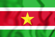 3D Flag Of Suriname.