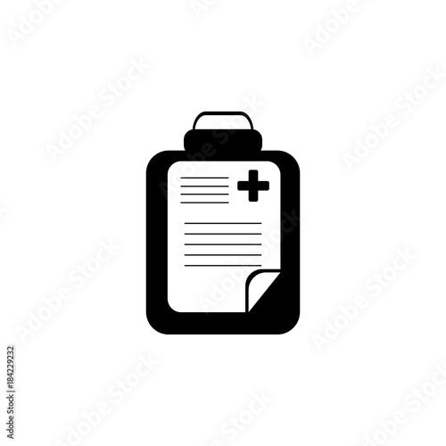 Medical Check List Icon Medicine Icon Element Treatment Icon