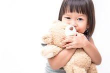 Asian Cute Little Child Girl H...
