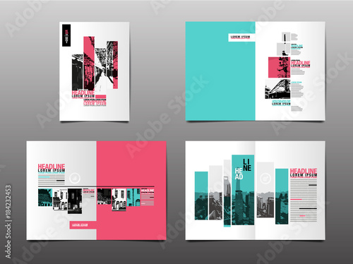 Fotografie, Obraz  annual report ,template layout design,  cover book. vector