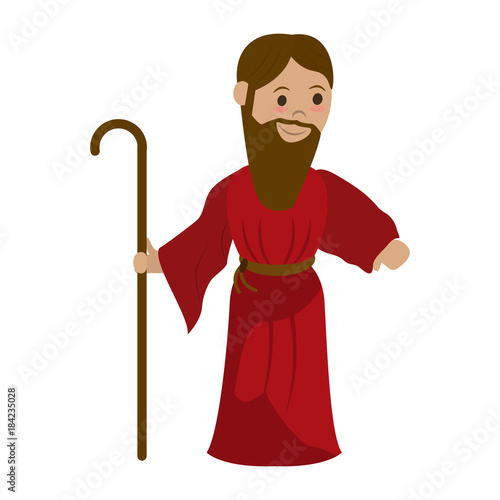 Obraz na plátne Saint joseph cartoon icon vector illustration graphic design