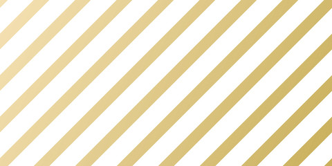 Christmas holiday golden pattern background template for greeting card or New Year gift wrapping paper design. Vector gold and white stripe lines pattern for Christmas or New Year seamless background